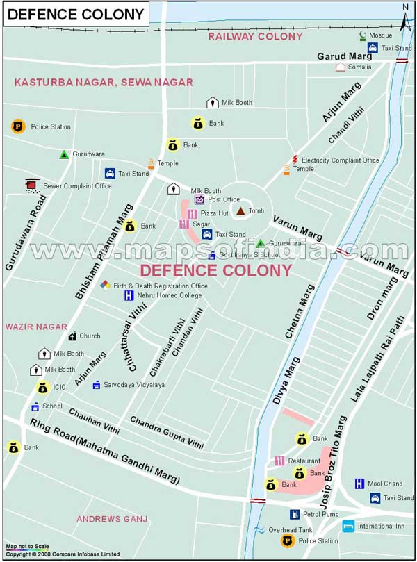 Defence Colony、GK-I、GK-Ⅱ、Panchsheel Park | 周辺情報